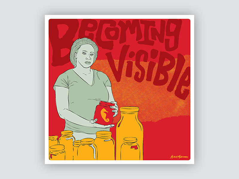Gig Posters for Scientists - No. 1 women science gig poster portrait red vector illustration