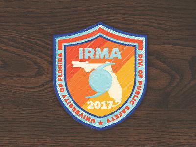 Patch [mockup] for hurricane volunteers mockup illustration merit badge badge embroidery patch