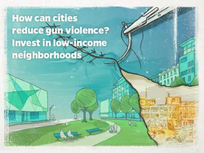Editorial Illustration - Gun Violence conceptual news photoshop illustration editorial illustration