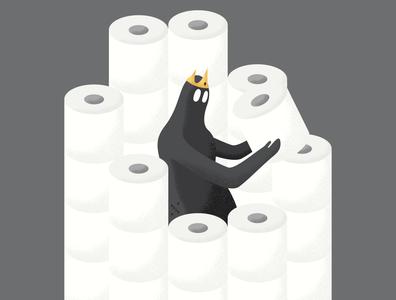 Toilet Paper Castle greed humanity vector illustration coronavirus virus covid-19 hoarding hoarders castle toilet toilet paper