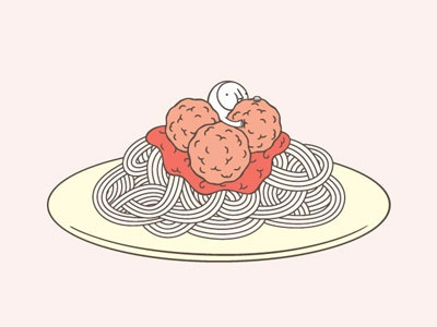 The Hiding-in-the-Wrong-Place Club: Spaghetti meatballs italian club hiding food spaghetti
