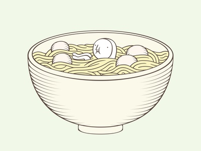 The Hiding-in-the-Wrong-Place Club: Bowl of Fish Ball Noodles