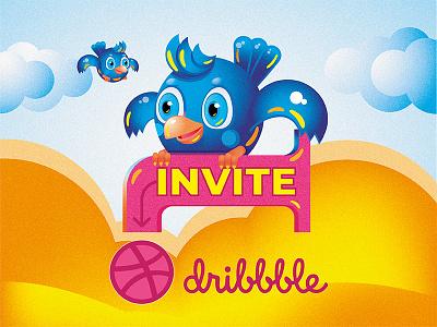 One Dribble Invite ui  ux design graphic  design graphic art giveaway dribbble best shot dribbble art design one invitation