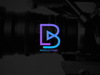 BProductions Branding brand typography gradient studio production photography illustrator photoshop logo design logotype design branding