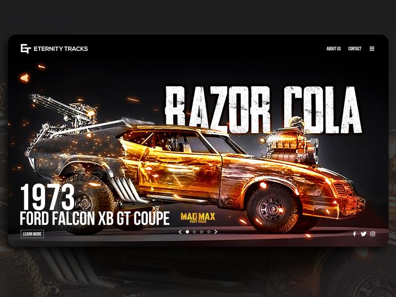 Eternity Tracks - Type 3. Razor Cola falcon mad max ford cars branding typography landing page ux ui photoshop art photoshop photomanipulation web design
