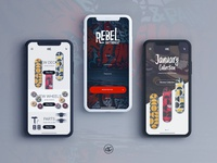 Rebel Skateboards - App Concept