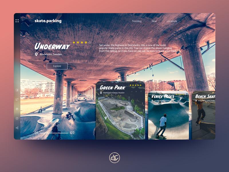 skate.parking - Landing Page Design skate skateboard digital design adobe xd web web design concept landing page photoshop ux ui