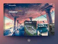 skate.parking - Landing Page Design