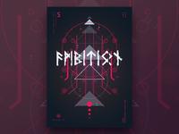 Runic™ - Inscription 5 | Poster Design