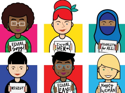 Protest Signs Don't Sugarcoat Gender Inequality design print feminist nasty woman diversity resist future vote resistance protest women equality