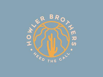 Howler Brothers Ticla Cactus spring sun ticla cactus emblem howler bros howler brothers design illustration