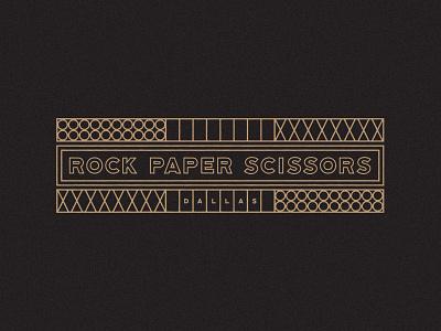 Rock Paper Scissors restaurant graphic design dallas texas typography branding design logo illustration