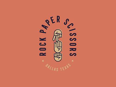 Rock Paper Scissors bar restaurant texas dallas graphic design typography branding design logo illustration