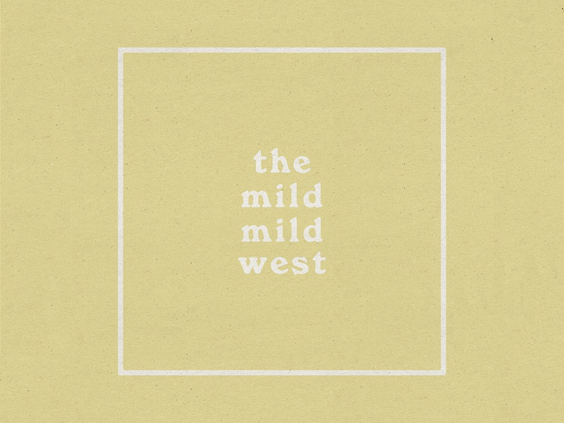 The Mild Mild West west texture music desert album art album typography design illustration