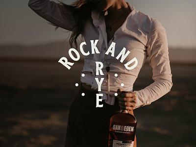 Rock and Rye design bourbon rye whiskey bootbarn texas texture logo rockandrye