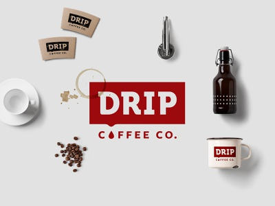Drip Coffee Co. graphic design rebranding drip texas dallas coffee shop coffee rebrand design logo branding