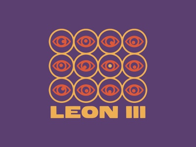 Leon III Eyes rock psychedelic eyes band music apparel graphic design typography design logo illustration