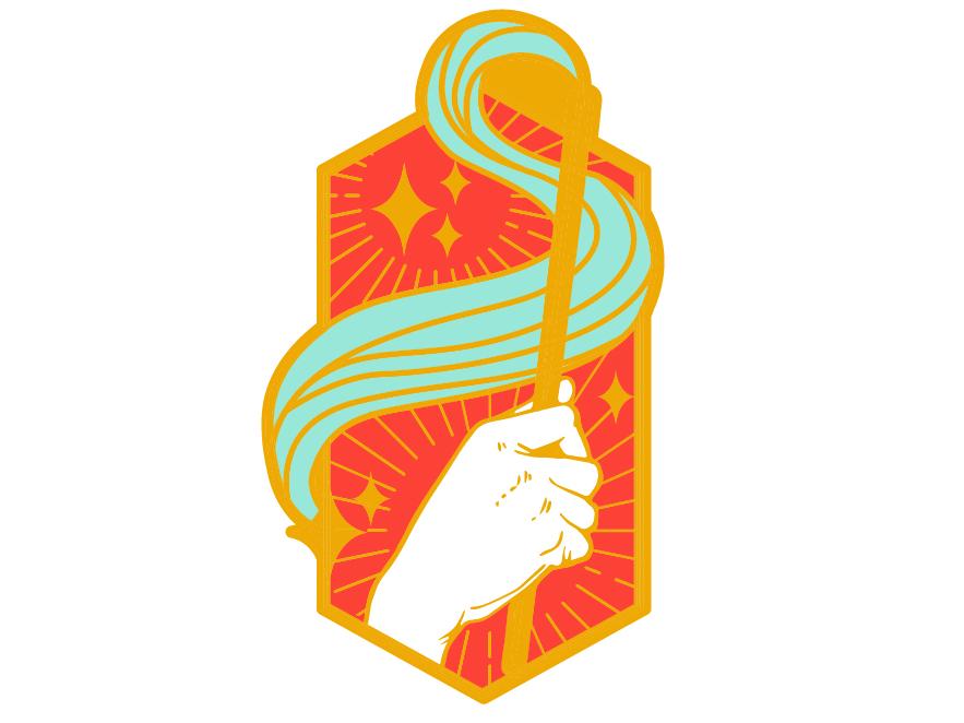 Casting a Spell Illustration I Enamel Pin Design by Sierra
