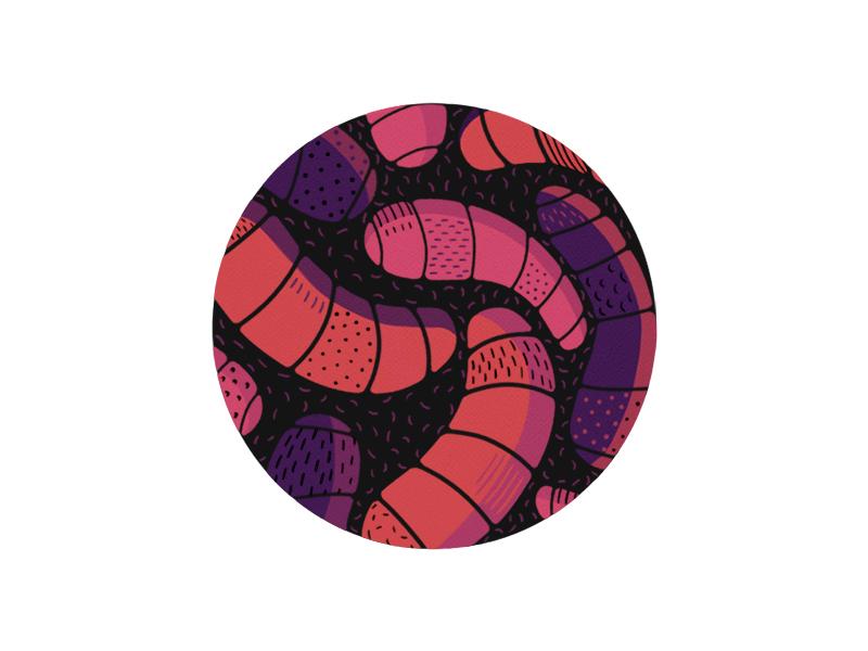Micro lens colour microscope illustration