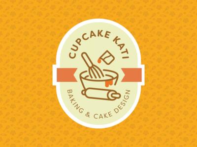 CupcakeKati Logo brand identity bakery cake branding logo design logo