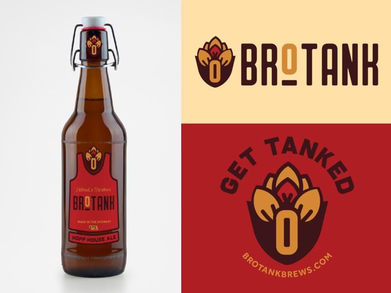 Brotank Brews brewery logo beer branding beer logodesign logo