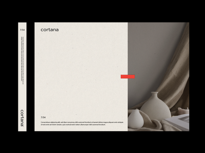 Cortana Ceramics Layout Design layout design poster designer poster layout poster design identity design minimal logo monogram lettering typography identity branding graphic design branding layoutdesign