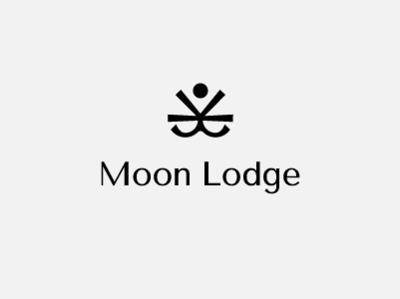 Moon Lodge logotype branding design identity design type stationary identity branding vector typography icon flat lettering illustration badge monogram minimal graphic 2d logo design branding