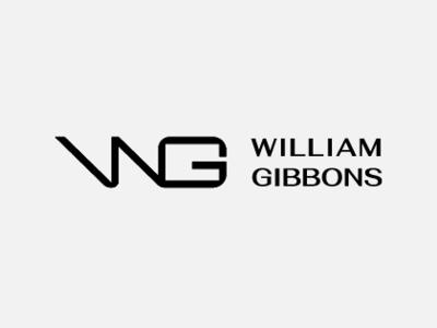 William Gibbons Brandmark Concept flat branding design type identity design identity stationary identity branding vector typography icon 2d lettering illustration badge monogram minimal graphic logo design branding