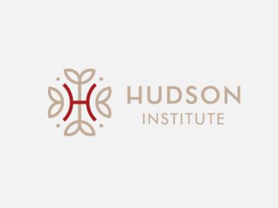 Hudson Institute vector identity branding 2d icon badge typography lettering illustration monogram minimal graphic logo design branding