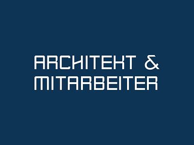 Architects & Associates illustration typography identity branding minimal lettering monogram graphic logo design branding