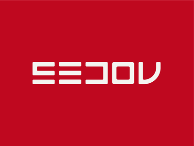 SEDOV icon logotype monogram render graphic design identity branding typography wordmark logo branding 3d