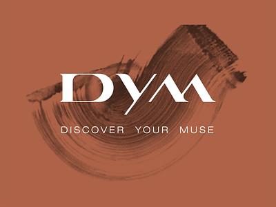 Discover Your Muse identity design minimal typography identity branding lettering monogram graphic logo design branding