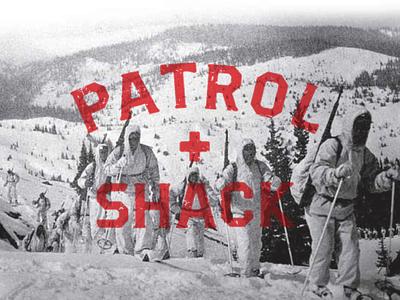 Patrol Shack logotype design logotype illustration identity branding minimal lettering monogram graphic logo design branding
