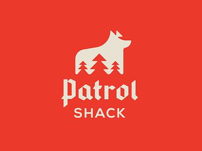 Patrol Shack badge icon identity branding minimal lettering monogram logodesign logotype logo design branding