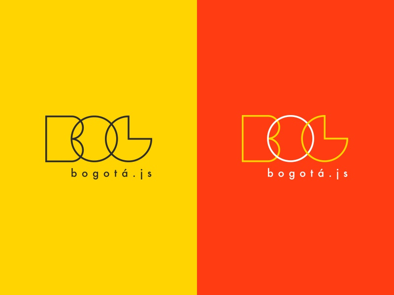 Bogotá.js geometric logo design branding