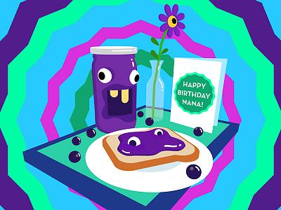 Blackcurrant jam on toast hungry flower car birthday toast on jam blackcurrant