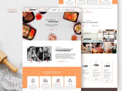 Daily UI • Landing Page ui design onepage tucuman argentina dailychallenge chefs dailyui web design cook cookworking user interface design ui