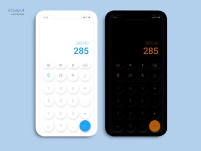 Calculator - DailyUi Challenge mobile dark mode light mode argentina dailyui user interface uidesign ui