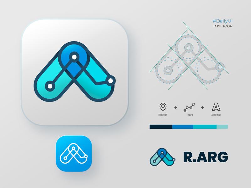 R.ARG - Icon App iconapp icon logodesign app argentina logo dailyui ui ui design branding