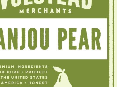 Pear packaging label green