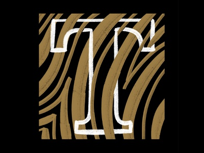 Tiger Tuesday soulsightletterchallenge gold black design soulsight letter project ipad brush lettering