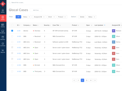 Case Tracking information system tracker design daily ui clean
