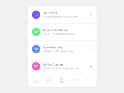 Rounded Card Design Exploration user interface design modern clean rounded card design