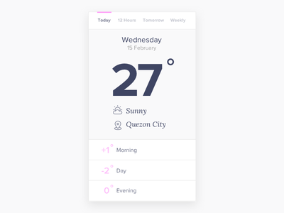 Weather App clean weather