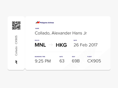 Boarding Ticket - Philippine Airlines philippines airlines boarding ticket