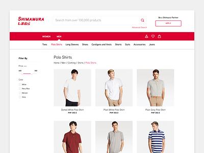 eCommerce Concept for Shimamura japanese asian ecommerce