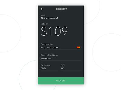 Daily UI 002 - Credit Card Checkout dark theme checkout credit card daily ui