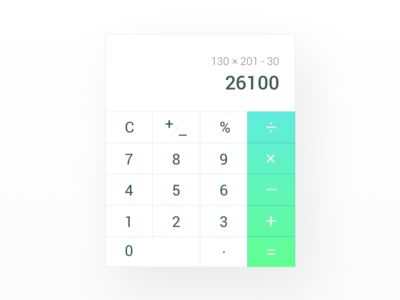 Daily UI 004 - Calculator clean simple gradient calculator daily ui