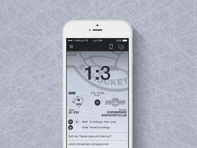 Ice Hockey App app iphone ios ui hockey ice