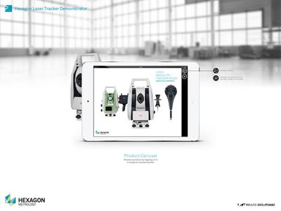 """Demonstrator """"Overview"""" ipad ui app"""